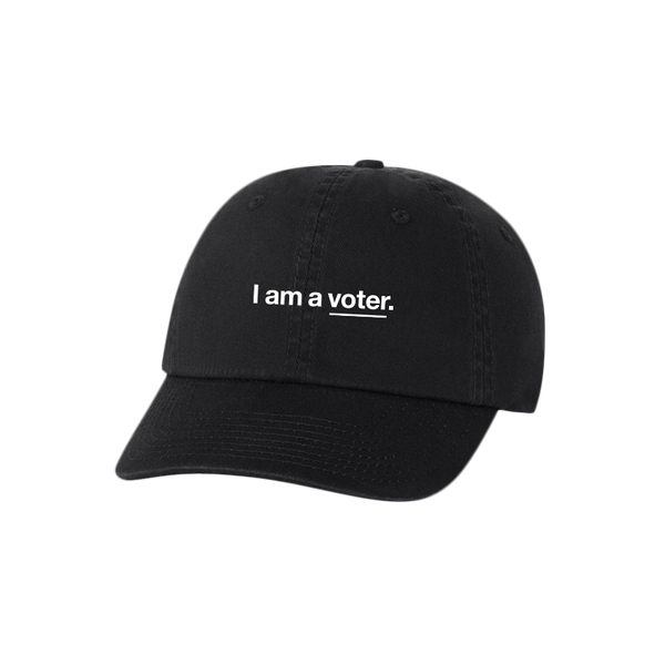 I am a voter. unisex black baseball cap