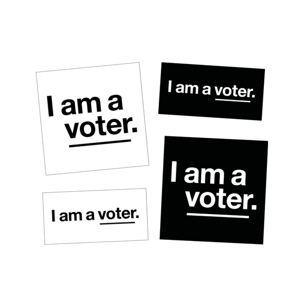 I am a voter. sticker set (4 stickers)