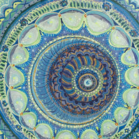 Blue Mandala painting. Inspiration for clothing designs.