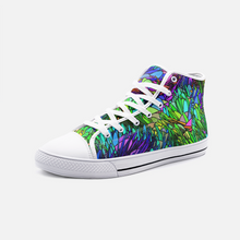 Load image into Gallery viewer, Spring Grass, Unisex High Top Canvas Shoes