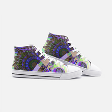 Load image into Gallery viewer, Psychedelic Mandala, Unisex High Top Canvas Shoes