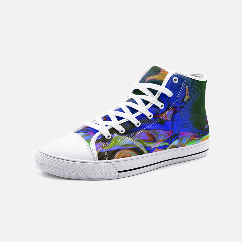 Ripple Alterations, Unisex High Top Canvas Shoes
