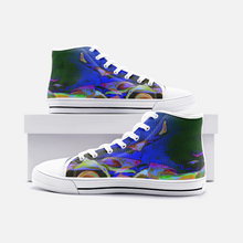 Load image into Gallery viewer, Ripple Alterations, Unisex High Top Canvas Shoes