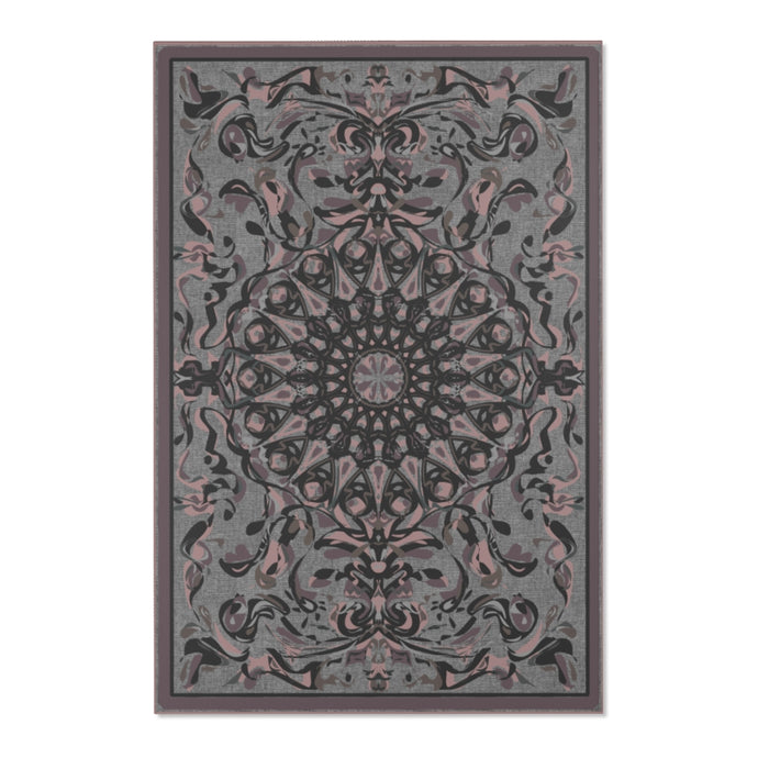 Fanciful Mandala, Grey Beige area rug