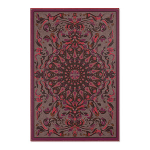 Fanciful Mandala, Rose Blend Area Rug