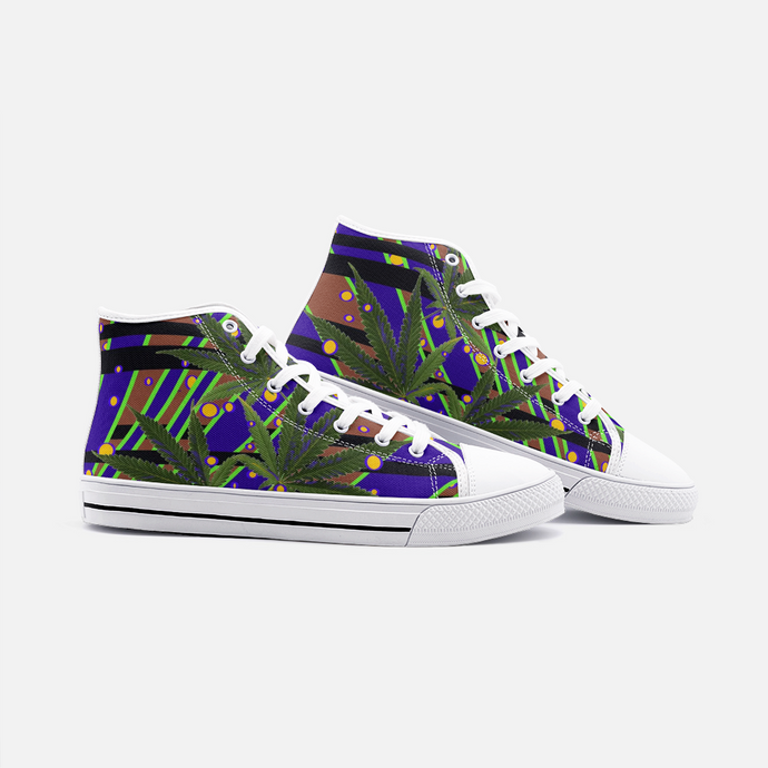 Marijuana Juiced, Unisex High Top Canvas Shoes