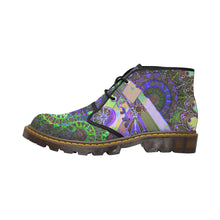 Load image into Gallery viewer, Psychedelic Mandala, Women's Canvas Chukka Boots
