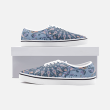 Load image into Gallery viewer, Mandala Party, Blues, Unisex Canvas Shoes Low Cut Loafer Sneakers