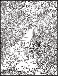 Walk with Lucy downloadable coloring page