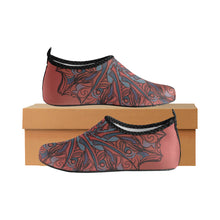 Load image into Gallery viewer, Red Desert Mandala. Women's Slip-On Water Shoes