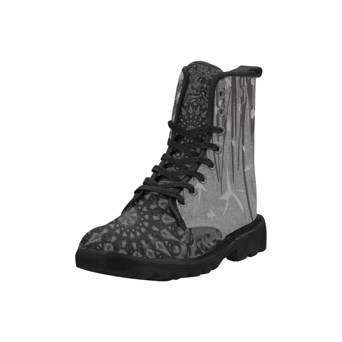 Mandala Party, Black, Martin Boots for Women