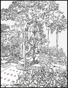Houdini Gateway Downloadable coloring page