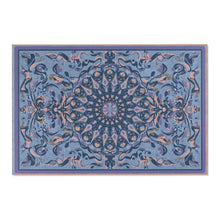 Load image into Gallery viewer, Fanciful Mandala, Blues Area Rug