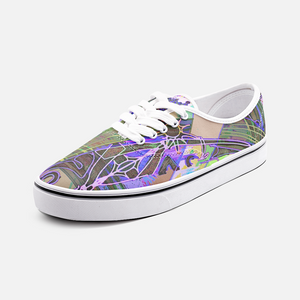 Psychedelic Mandala, Unisex Canvas Shoes Fashion Low Cut Loafer Sneakers