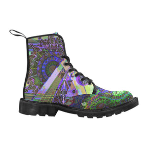 Psychedelic mandala Martin Boots for Women