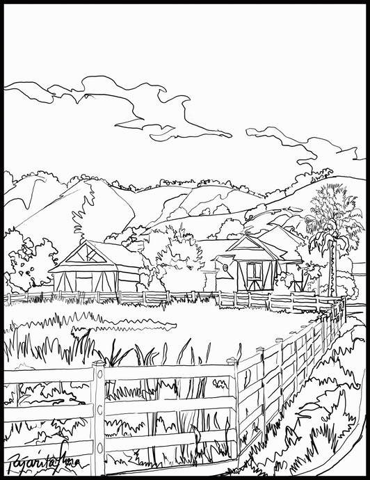 California Hills Downloadable coloring page