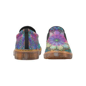 Crown Mandala, Women's Slip-On Loafer