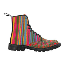 Load image into Gallery viewer, Rasta Stripe Mandala Martin Boots for Women
