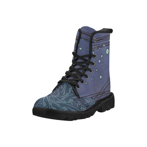 Desert Mandala Blue Martin Boots for Women
