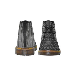 Mandala Party, Black, Women's Canvas Chukka Boots