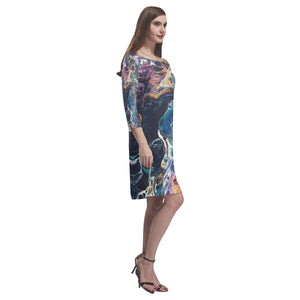 Dragonfly  Loose Round Neck Dress