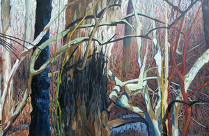Never Dormant, A painting from the forest in Winter.