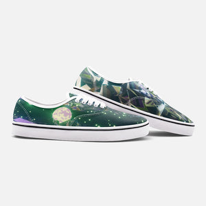Verdant Moon Unisex Canvas Shoes  Low Cut Loafer Sneakers