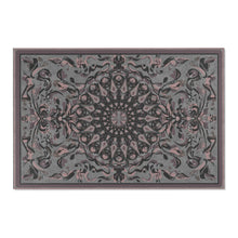 Load image into Gallery viewer, Fanciful Mandala, Grey Beige area rug