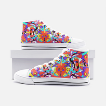 Load image into Gallery viewer, World Groove, Unisex High Top Canvas Sneakers
