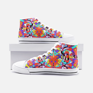 World Groove, Unisex High Top Canvas Sneakers