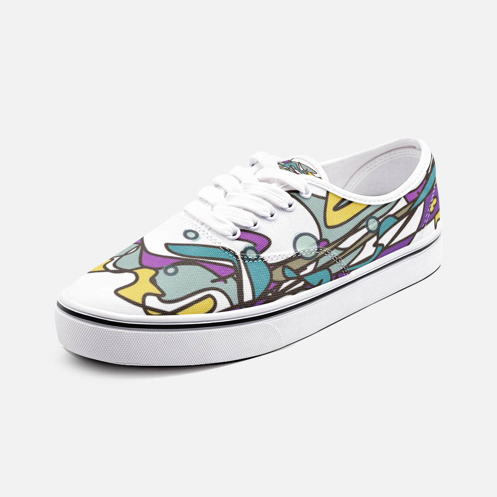 Zoom Abstract Unisex Canvas Shoes Low
