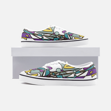 Load image into Gallery viewer, Zoom Abstract Unisex Canvas Shoes Low Cut Loafer Sneakers