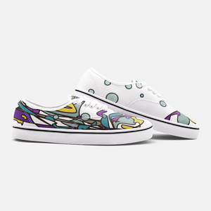 Zoom Abstract Unisex Canvas Shoes Low Cut Loafer Sneakers