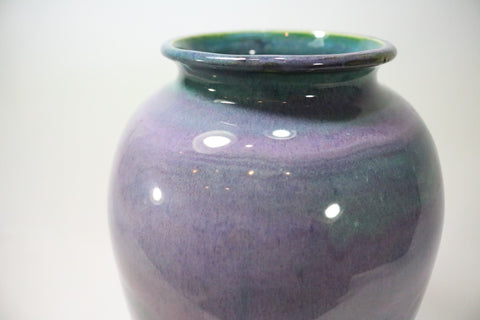 Vase (Large drop) - Lilac/Green
