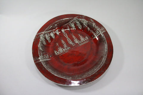 Round Platter (Large) - Red with pattern