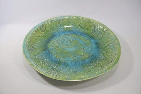 Round Platter (X Large) - Seaglass with lace