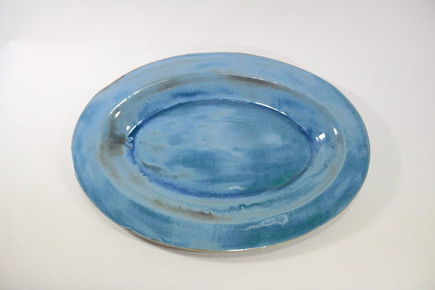 Oval Platter - Pacific Blue
