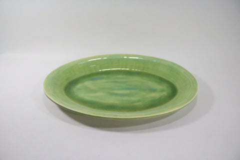 Oval Platter - Green Apple