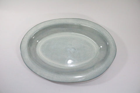 Oval Platter - Off White/grey