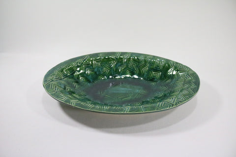 Oval Server - Holly with pattern