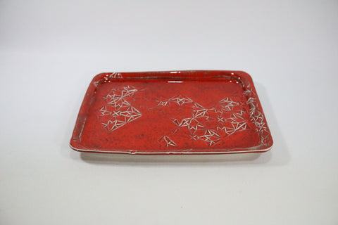 Sushi Plate - Rorange with pattern