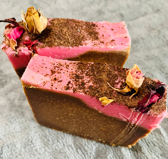 Chocolate Rose Cardamom Artisan Soap