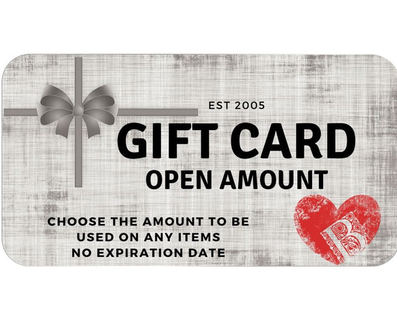 Bella's Open Amount Gift Card