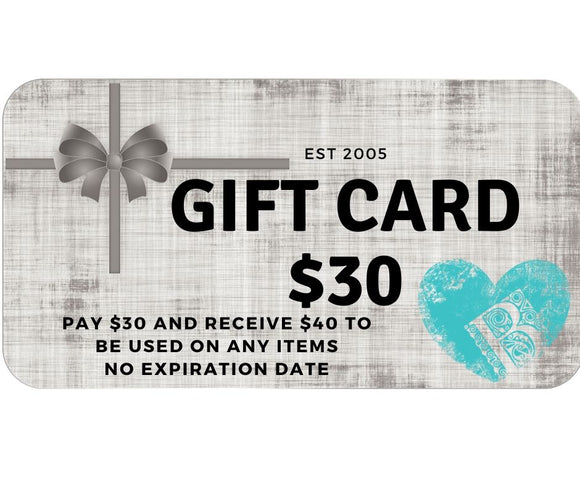 Bella's 30/40 Gift Card