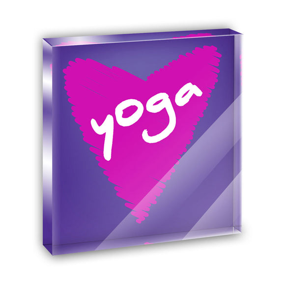 Yoga In Love Acrylic Office Mini Desk Plaque Ornament Paperweight