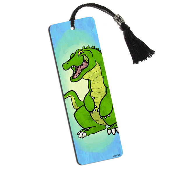Happy Alligator Printed Bookmark with Tassel
