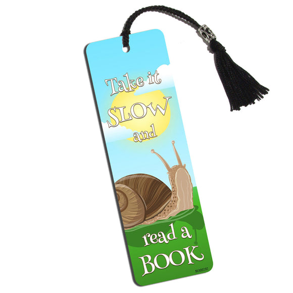 Pokey Snail Printed Bookmark with Tassel