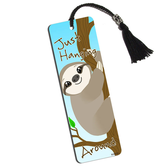 Sloth Just Hanging Around Printed Bookmark with Tassel