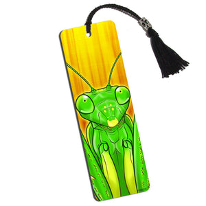Praying Mantis Sees You Printed Bookmark with Tassel