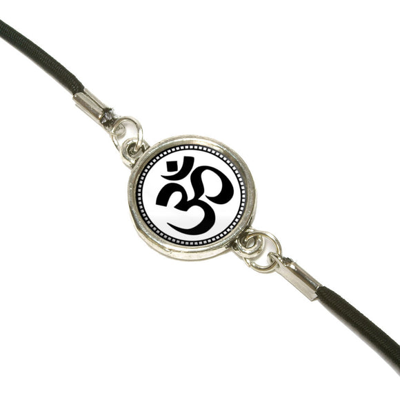 Om Symbol Bookmark Book Wrap Strap Elastic Band